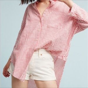 Anthro. Holding Horses Oversized Striped Top M/L